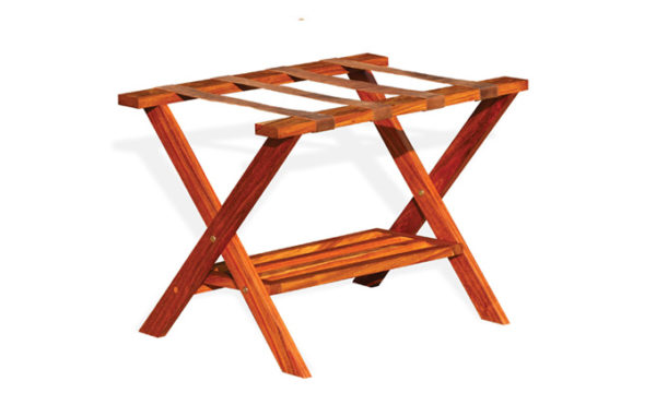 Kiaat-Luggage-Rack-with-Shoe-Rack-and-Black-Straps