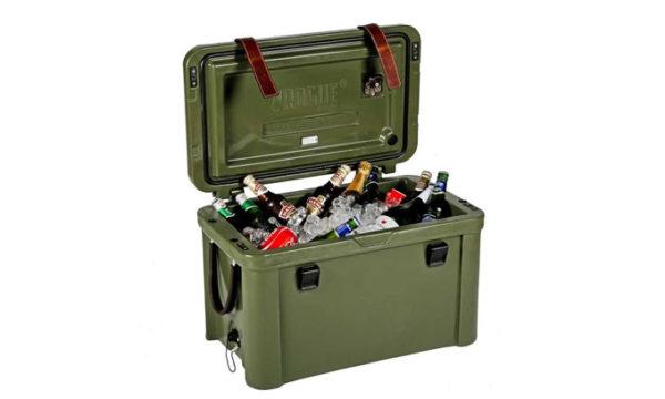 45Litre Ice Cooler w Canvas/ Leather 66x41x39cm(h)