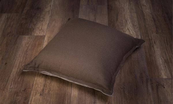 Scatter Plain 50x50 Cobblestone/Coffee Reversable