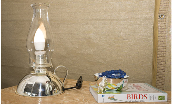 Antique-Hurricane-Lamp---Electrical-version-Silver