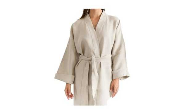 Dressing gown Linen Natural