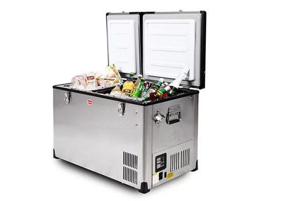 SnoMaster S/Steel Mobile Fridge/Freezer 60l