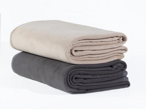 Fleece blanket 140x150 Stone