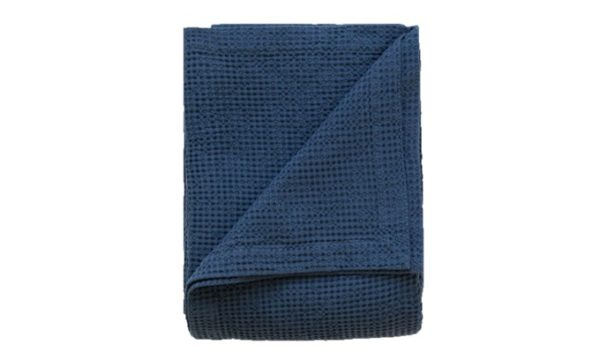 Cobble Weave Bed Cover - Petrol Blue 1