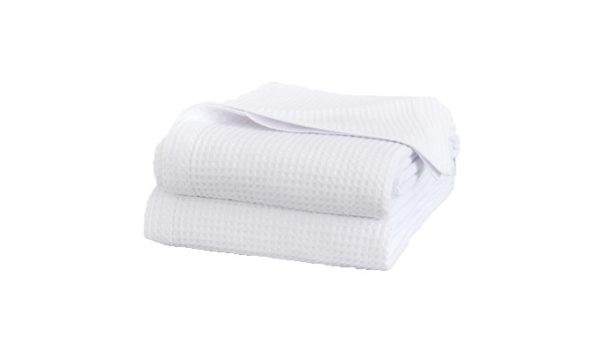 Cobble Weave Bed Cover - White 1