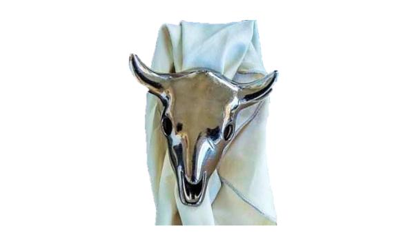 Cow Skull napkin holder - Bronze