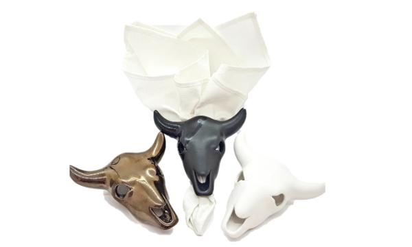 Cow Skull Napkin Holder - Livingstones Supply Co