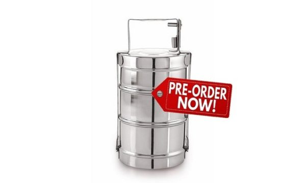 3 Tier Tiffin - Stainless Steel - Livingstones Supply Co