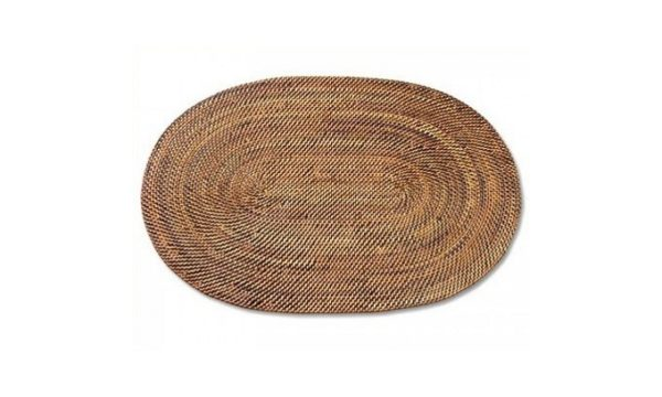 Rattan Oval Placemat - Livingstones Supply co