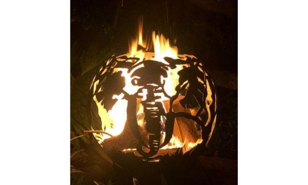 Carved Elephant Firebowl 2
