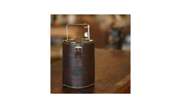 Leather Tiffin Snack Bar Sleeve