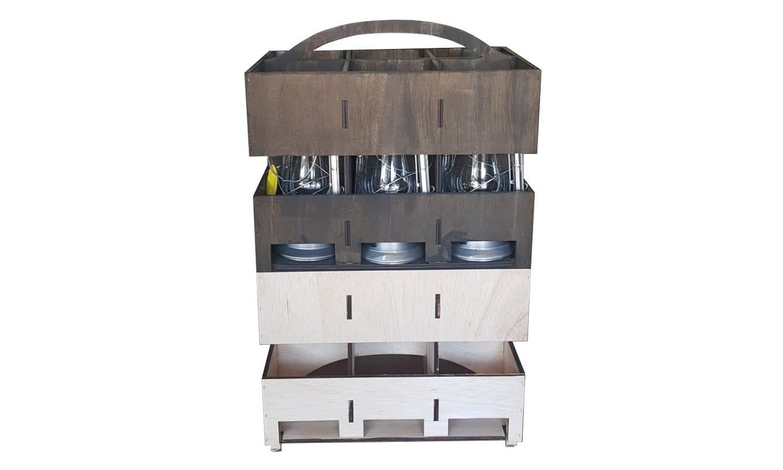 Stackable Lantern Box - Lightwood (Natural)